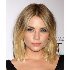 Ashley Benson Hairstyle - Medium Straight Casual - Dark Blonde ❤ liked on Polyvore featuring hair, people, hairstyles and models