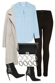 """Untitled #2044"" by sarah-ihab ❤ liked on Polyvore featuring Topshop, Equipment, Zara, Chanel, ASOS and Yves Saint Laurent"