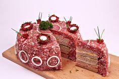 Chefkoch.de Rezept: Metttorte mit Brot