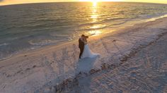 Sunset at Grand Plaza shot by drone by Tampa Wedding Photographer http://celebrationsoftampabay.com/photographers-st-pete-beach/