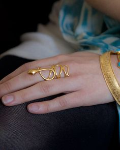 Nile RIng (gold, nile, ring, serpent, snake) | Rings | Julie Collection