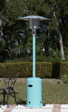 Aqua Blue Powder Coated Commercial Patio Heater