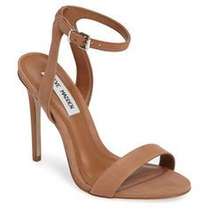 landen ankle strap sandal by Steve Madden. A slim ankle strap lends a dash of on-trend elegance to a barely there sandal lofted by a stiletto heel.