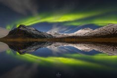 The reflection of the Arctic soul - The magnetospheric plasma, solar wind and moon play over Reynivellir in southeastern of Iceland.  It was a beautiful moment with my friend David Bouscarle ;)  Facebook Page: https://www.facebook.com/AlbanHenderyckxPhotography  Copyright © Alban Henderyckx / All rights reserved.