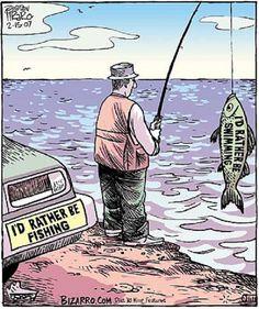 Funny comics Bizarro Comic (by Dan Piraro) Funny Fishing Memes, Fishing Quotes, Funny Memes, Hilarious, Bizarro Comic, Vegan Humor, Vegan Meme, Vegetarian Humor, Vegan Food