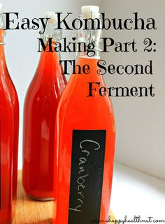 Easy Kombucha Making Part 2: The Second Ferment (1c fresh juice/purée for 1 gallon)