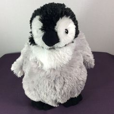 "Wildlife Artists Plush Baby Emperor Penguin Stuffed Animal Gray/White/Black 12"" #WildlifeArtists"