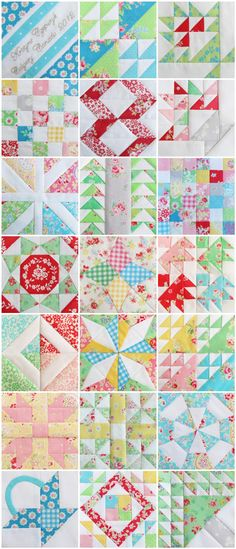 This is The Farmer's Wife Quilt Along on Pretty by Hand. By scrolling down on this age you will find pictures of the individual blocks (and there are A LOT of blocks!): http://prettybyhand.com/blog/tag/fwqal