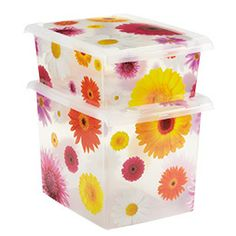 The Container Store > Daisy Storage Boxes