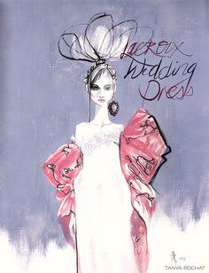 Bridal Fashion Illustrations by Tanya Rochat