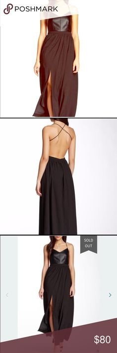 NWT Sexy Open Black Maxi Dress by Gracia Size Small fits 2-4 This
