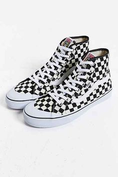 03e2ab9419 Vans Black Ball Hi SF Checkered Sneaker High Top Vans Outfit