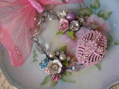Heavenly Shabby Chic vintage assemblage old ooak by originalnoell, $58.00