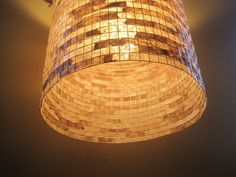 COFFEE FILTER ART  Hanging Pendant  or Table Lamp by Lampada, $185.00
