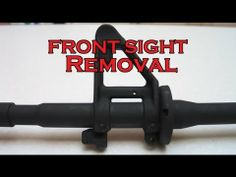 ▶ HOW-TO: AR-15 Front Sight Removal [HD] - YouTube