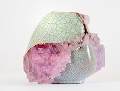 Lukas Wegwerth | Crystallization 32 | 2015, Ceramic, Crystals | Unique | Germany http://www.galleryfumi.com/Artists/Lukas-Wegwerth/