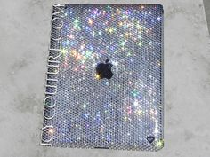 ICY Couture, Diamond Clear Swarovski Crystal iPad cover with Apple logo. Bling Your iPad!