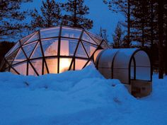 On my bucket list....Finland in a fancy warm igloo to see the Northern Lights!