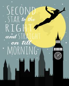 Peter Pan, Second Star to the Right Printable