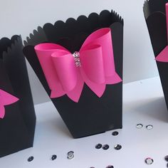 26 ideas for kate spade bridal shower favors treat bags Popcorn Bar, Pink Popcorn, Popcorn Boxes, Barbie Birthday Party, Barbie Party, Birthday Parties, Birthday Ideas, Kate Spade Party, Kate Spade Bridal