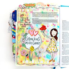 Growing in Grace: Bible Journaling Watercolor Technique Tutorial with Cristin Howell
