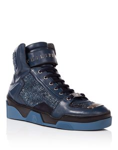 "PHILIPP PLEIN High Sneakers ""New Orleans"". #philippplein #shoes #"
