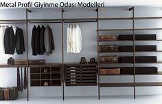 Metal Profilli Giyinme Odası Modelleri ve ürünleri
