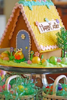 The backside of our Easter Gingerbread Houses - order online - they make great Easter gifts for your own home or far away friends and relatives!
