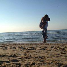 Beach love summer jesolo 2015 kiss sun happiness
