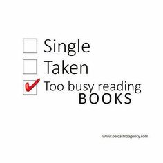 Too busy reading books