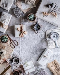 Neutral Gift Wrapping // Minimal Waste Gift Wrapping // Linens // Beth Kirby // Local Milk