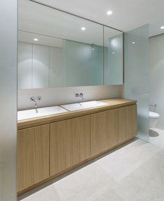 Mediterranean House with Large Glass Windows mediterranean house interior bathroom