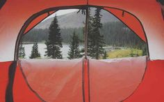 Because when you camp at home, this isn't your view.