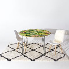 'Floral Cure ||' Round Tables & Decor @denydesigns #denydesigns #furniture #home