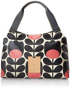Women's Shoulder Bags - Orla Kiely Matt Laminated Tulip Stem Print Classic Zip Shoulder BagJetOne Size *** Click image for more details.