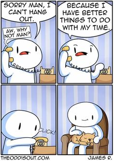 Funny Introvert Comics Comic Strips 88 Comics That introverts Will Understand Theodd1sout Comics, Online Comics, Cute Comics, Funny Comics, Really Funny Memes, Stupid Funny Memes, Funny Posts, Funniest Jokes, Funny Gifs
