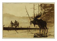 Moose Ahead etching by Brett J Smith www.brettsmith.com