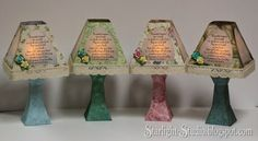 Denni's gorgeous paper friendship lamp luminaries, modified from SVGCuts #papercrafts #svgfiles
