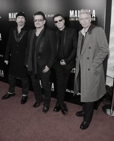 U2 at the Mandela: Long Walk To Freedom screening, New York City, November 2013