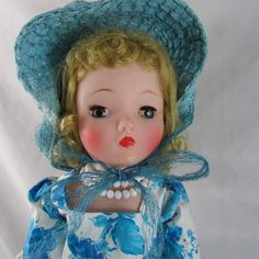1958 Blue Camillia Cissy Doll #2222 Ring Hat Dress Heels Box Madame Alexander #DollswithClothingAccessories