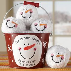 snowball fight in a bucket!  Wonder if I could do a handmade version!???