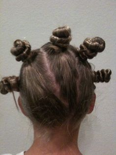 Cute hairdo for sports or crazy hair day at school.