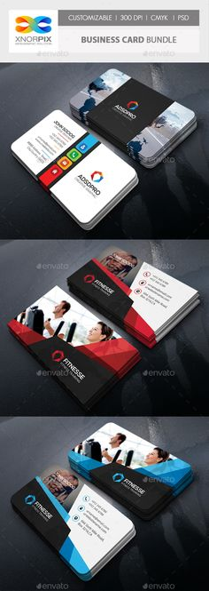 Business Card Design Template Bundle - Corporate Business Cards Design Template PSD. Download here: https://graphicriver.net/item/business-card-bundle/18997417?ref=yinkira