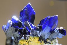 Azurite-  	Category	Carbonate mineral  Formula  Cu3(CO3)2(OH)2  Tsumeb Mine Otjikoto Namibia