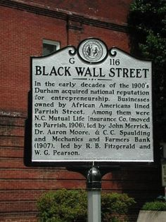 Black Wall St. - still an unresolved travesty.