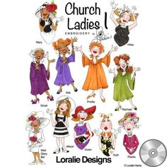 Church Ladies 1 Machine Embroidery Collection | Compact Disc