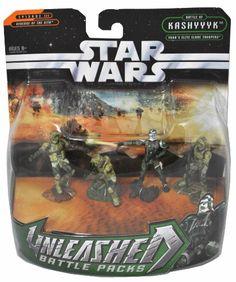 Star Wars Year 2005 Episode III Revenge of the Sith Unleashed Battle Packs Series 2-1/2 Inch Tall 4 Pack Set - Battle of Kasyyyk Yoda's Elite Clone Trooper Star Wars http://www.amazon.com/dp/B0040MQB34/ref=cm_sw_r_pi_dp_qCdPtb10KSWWAACE
