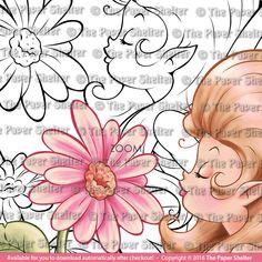 Daisies in Paradise - Digital Stamp