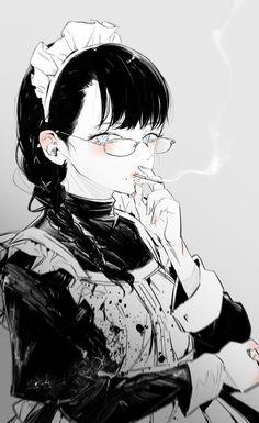 """七癖みり🍣🍵♨️ on Twitter: """"ヴッ.....🌱… """" Anime Art Girl, Manga Art, Character Art, Character Design, Anime Maid, Vintage Artwork, Anime Artwork, Drawing People, Character Illustration"""