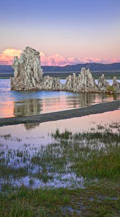 Twilight Tufa Marsh • Mono Lake - Tioga Pass - Sierra North • Original: http://cookseytalbottgallery.com/image_vertorama3.php?gaFileName=Tufa-Marsh-0811_5040-5045.jpg&gaPageNumber=8&gaGallery=APPDEV_GALLERY_largevertoramas&gaImageIndex=31